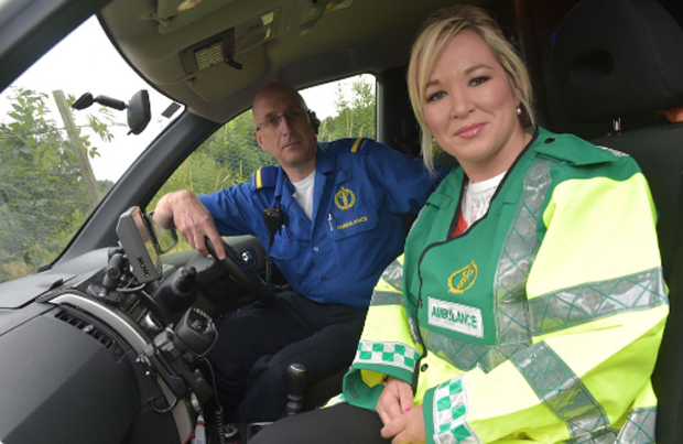 O Neill On The Frontline With Ambulance Service Staff