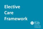 elective care framework