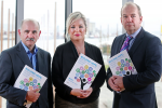 Dr Eddie Rooney, PHA - Health Minister Michelle O'Neill and Dr Michael McBride CMO