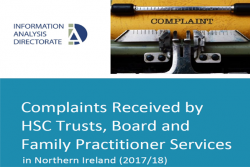 Complaints received by HSC Trusts, Board and Family Practitioner Services in Northern Ireland (2017/18)