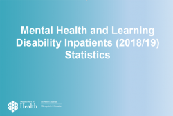 mental health and learning disability statistics