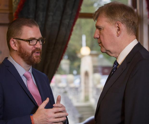 Minister Hamilton and Sir Liam Donaldson
