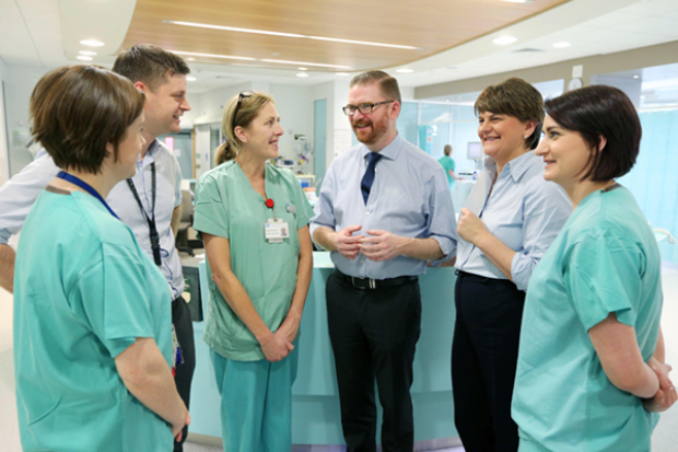 Health and Finance ministers visit Ulster Hospital