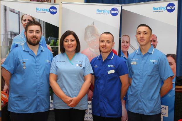 CNO Charlotte McArdle pictured at a recent event promoting careers in nursing for menes