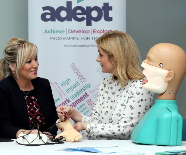 Health Minister Michelle O'Neill meets staff & hears about specialist postgraduate doctor & dentist training programme