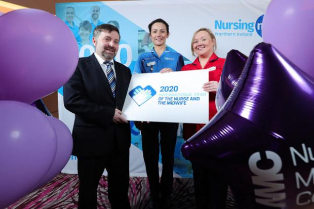 Health Minister pictured at Nursing event
